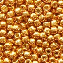 Toho 8/0 Seed Beads Permanent Finish Galvanised Old Gold PF591 - 10 grams